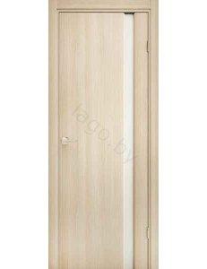 Дверь межкомнатная экошпон Ladora Эго 3-1, Орех Капучино, Белый триплекс