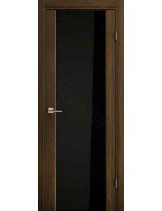 Дверь межкомнатная экошпон Ladora Эго 3-3, Африканский орех, чёрный триплекс