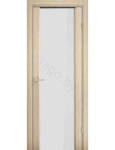 Дверь межкомнатная экошпон Ladora Эго 3-3, Орех капучино, белый триплекс