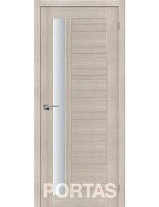 Дверь межкомнатная экошпон Portas S28 Лиственница крем