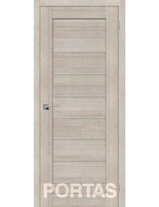 Дверь межкомнатная экошпон Portas S21 Лиственница крем