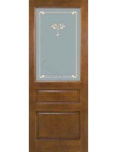 Дверь межкомнатная массив сосны ПМЦ Модель №5 ДО/ДГ Коньяк