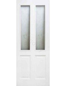Дверь межкомнатная массив сосны ПМЦ Модель №15 Стекло и глухая
