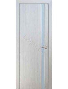 Дверь межкомнатная с ПВХ покрытием ПО Дакар Белый дуб Сатин