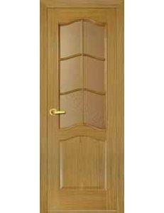 Межкомнатная дверь шпонированная Бретань дуб стекло матовое/Глухая