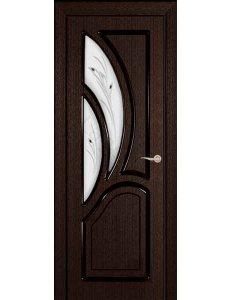 Межкомнатная дверь шпонированная Греция Стекло Фьюзинг/Глухая