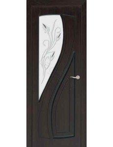Межкомнатная дверь шпонированная Лаура стекло фацет/Глухая