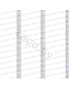 Панель ПВХ Потолочная 3-х секц. Серебро Кантри