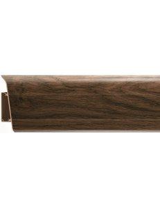 Плинтус (с кабель-каналом) RICO Royal №206 Дуб графский (2,5м x 76мм)