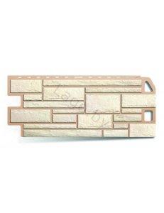 Фасадная панель ПВХ Камень Белый