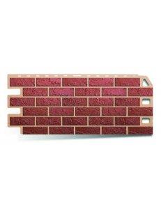 Фасадная панель ПВХ Кирпич Красный