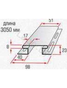 """Планка Т-18 """"соединительная"""" -3,05м ВН Blockhouse"""